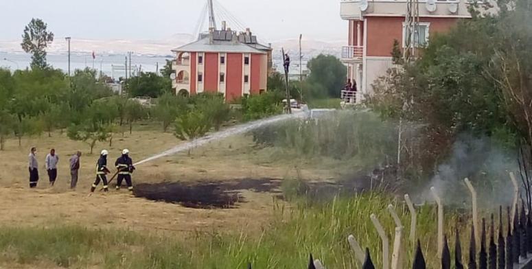Edremit'teki bahçe yangını korkuttu