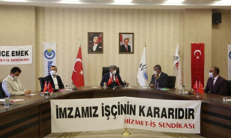 Büyükşehir ve Hizmet  İş arasında toplu sözleşme imzalandı