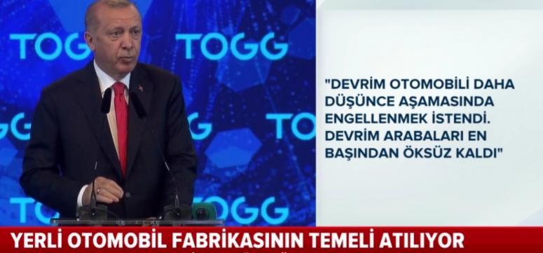 Erdoğan: Türkiye'nin üretmesini hazmedemeyenler var