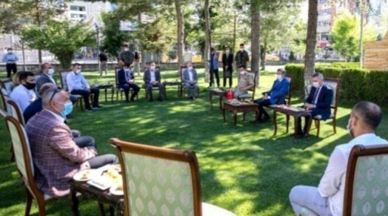 Vali Bilmez şehit aileleri dernek başkanlarıyla buluştu