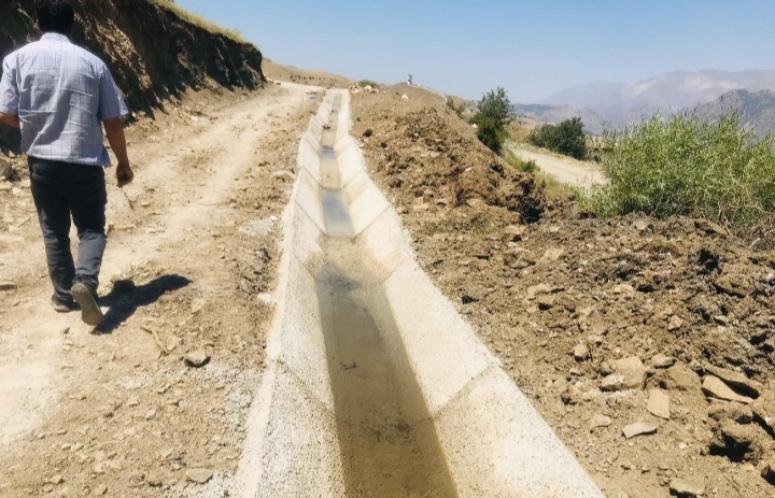 Büyükşehir'in sulama kanalı çalışmaları sürüyor