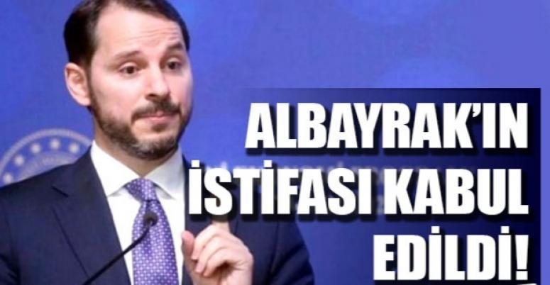 Cumhurbaşkanı Erdoğan, istifayı kabul etti