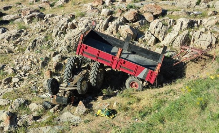Kontrolden çıkan traktör uçuruma yuvarlandı: 1 ölü