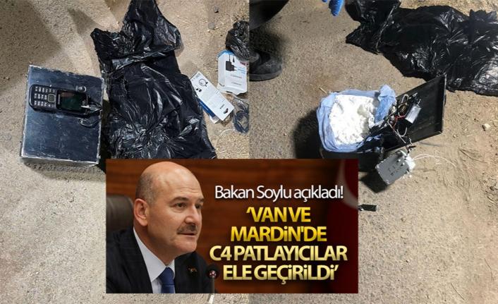 Soylu: Van ve Mardin'de patlayıcı ele geçirildi
