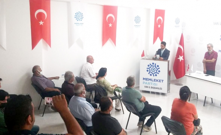Memleket Partisi Edremit İlçe Başkanlığı'na Metin getirildi