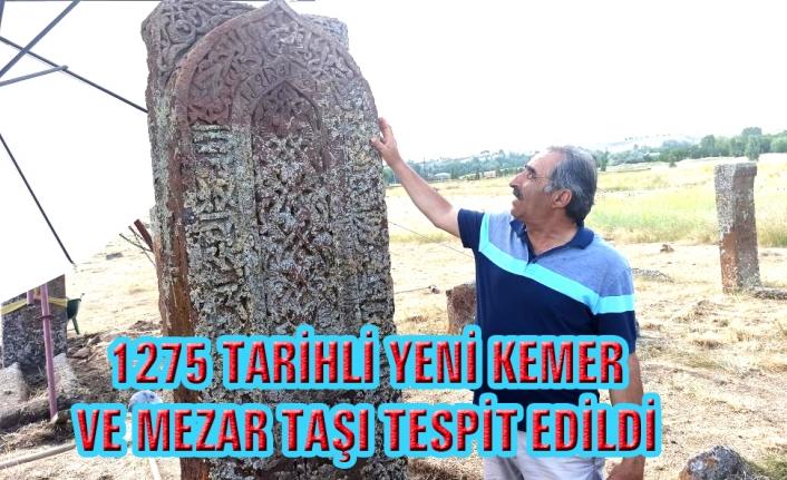 Selçuklu Mezarlığı'nda İlhanlı dönemine ait yeni kemer ve mezar taşı tespit edildi