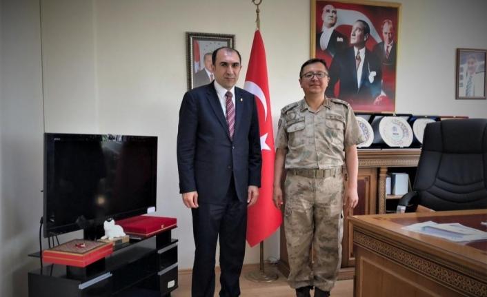 Tuğgeneral Yiğit'ten Van ESOB Başkanı Berge'ye ziyaret