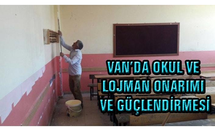 Van Milli Eğitim Müdürlüğü'nden, okul ve lojman onarımı...