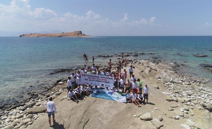 'Çarpanak Adası'na Antik Yoldan Su Altı Yürüyüşü' etkinliği