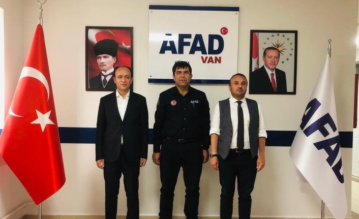 Kaymakam Solak ve Müdür Atlı'dan, AFAD'a ziyaret…