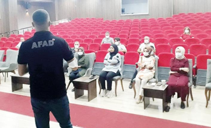 Özel güvenlik görevlilerine afet eğitimi