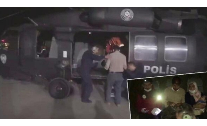 Van'da parmağı kopan bebek için polis helikopteri devrede