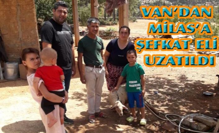 Van Polisi'nden, Milas'taki aileye yardım eli uzandı