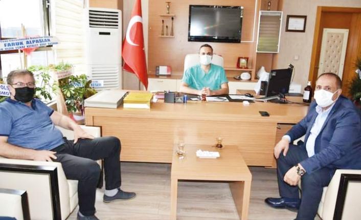 Zahir Kandaşoğlu'ndan, Başhekim Yavuzer'e hayırlı olsun ziyareti