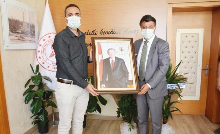 AK Parti heyetinden hastane yönetimine hayırlı olsun ziyareti