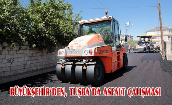 Büyükşehir'den, Tuşba'da asfalt çalışmaları...
