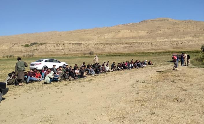 Gürpınar'da 71 kaçak göçmen ile 2 organizatör yakalandı