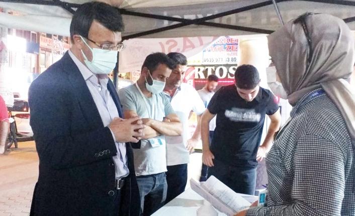 Türkmenoğlu, esnaf ziyaretlerini sürdürüyor