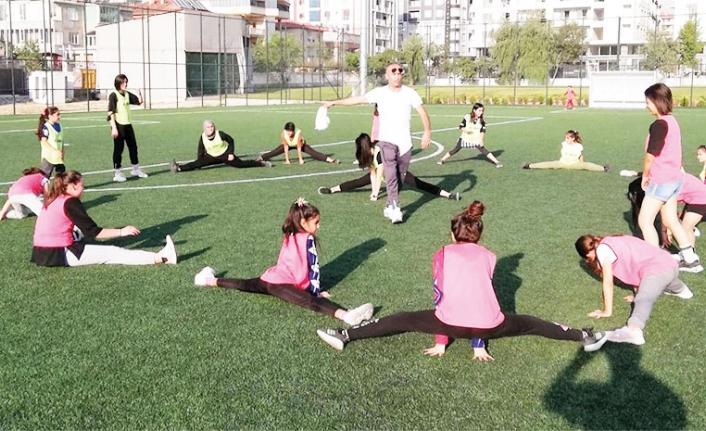 Van'da dezavantajlı kız çocukları sporla buluştu