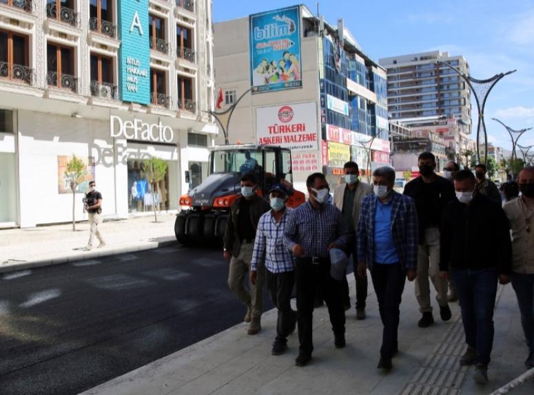Vali Bilmez, Büyükşehir'in çalışmalarını inceledi