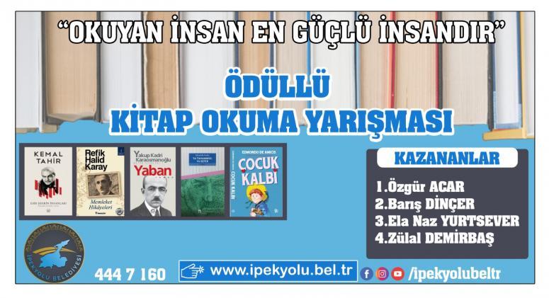 Kitap Okuma Yarışması'nın kazananları belli oldu