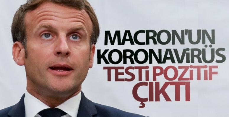 Fransa Cumhurbaşkanı Macron'un korona virüs testi pozitif çıktı