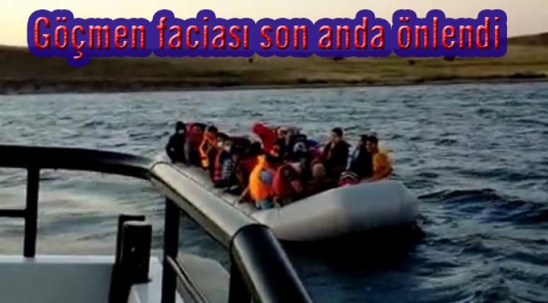 Türk kara sularına geri itilen 44 sığınmacı kurtarıldı