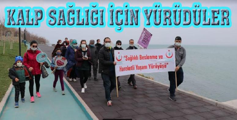 Van'da kalp sağlığı için yürüyüş etkinliği…