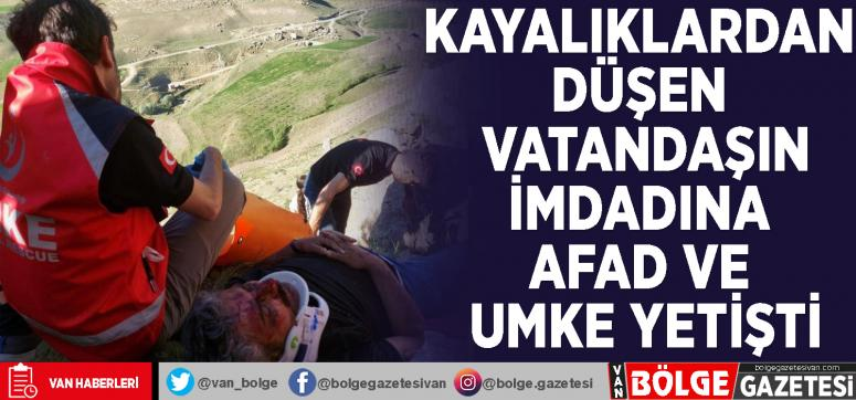 Kayalıklardan düşen vatandaşın imdadına AFAD ve UMKE yetişti