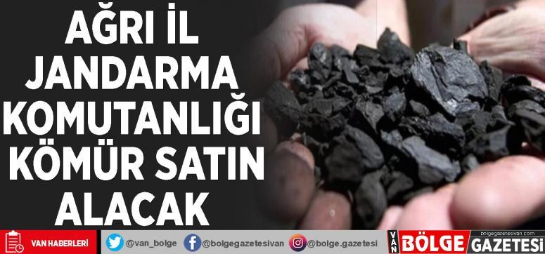 Ağrı İl Jandarma Komutanlığı kömür satın alacak