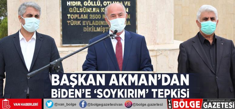 Başkan Akman'dan Biden'e 'Soykırım' tepkisi