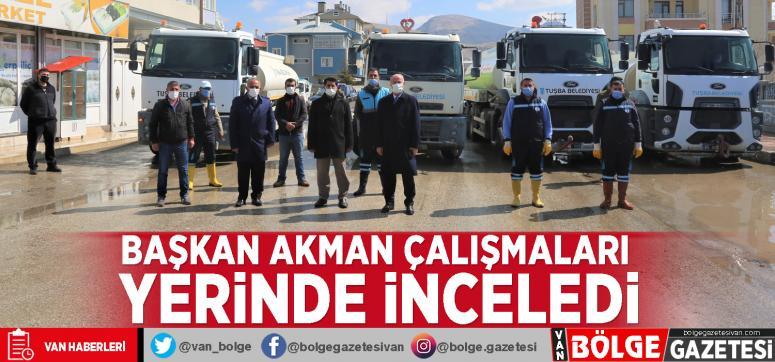 Başkan Akman çalışmaları yerinde inceledi