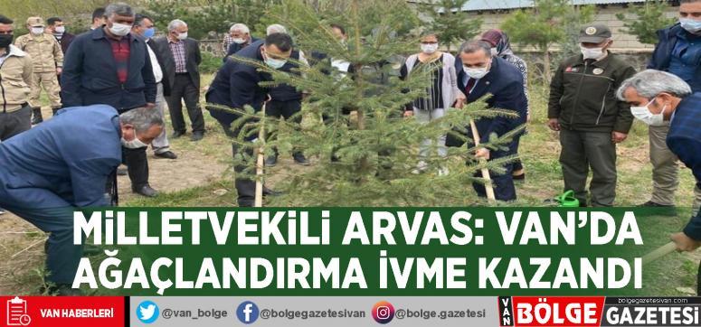 Milletvekili Arvas: Van'da ağaçlandırma ivme kazandı