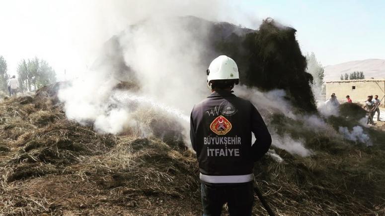 Başkale'de 3 bin bağ ot yandı