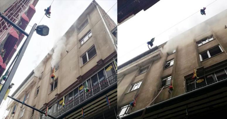 Evde çıkan yangın korkuya neden oldu