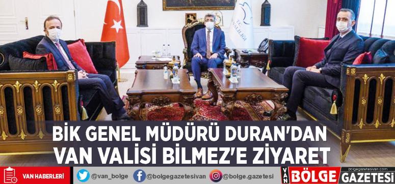 BİK Genel Müdürü Duran'dan Van Valisi Bilmez'e ziyaret