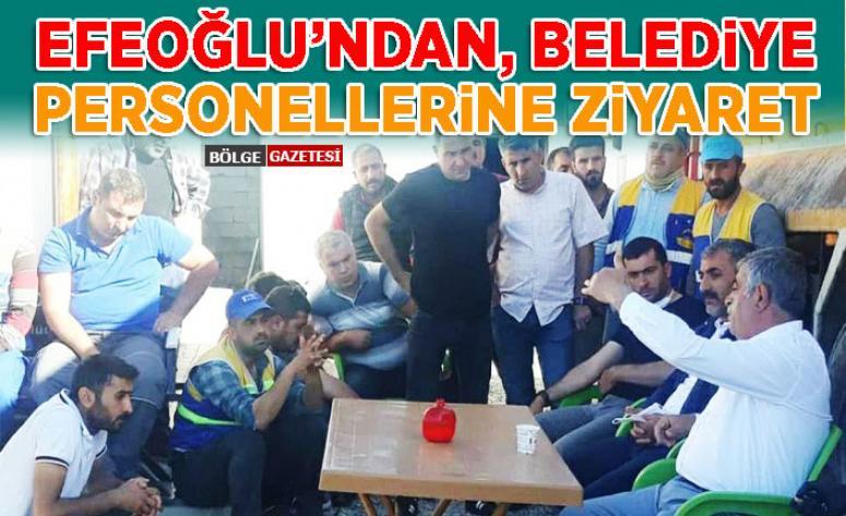 Efeoğlu'ndan, Tuşba Belediyesi çalışanlarına ziyaret...
