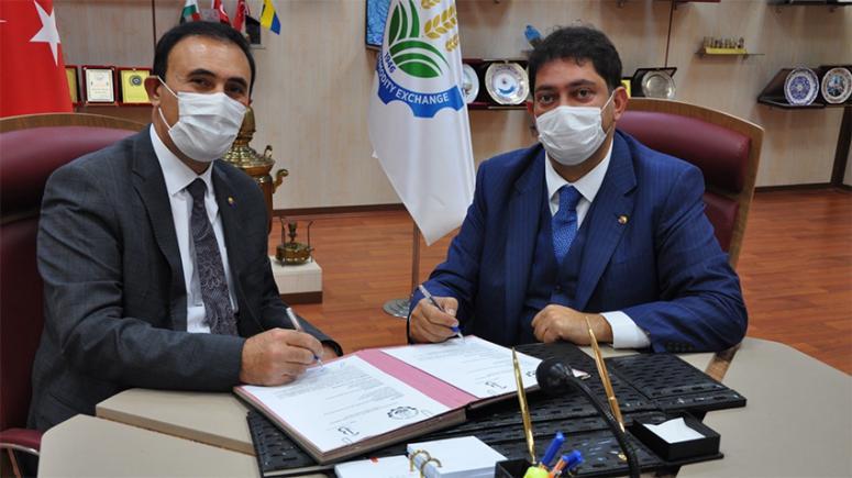 Van ve Erzurum borsalarından ortak protokol...