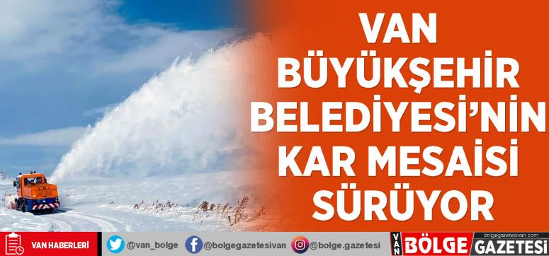 Van Büyükşehir Belediyesi'nin kar mesaisi sürüyor