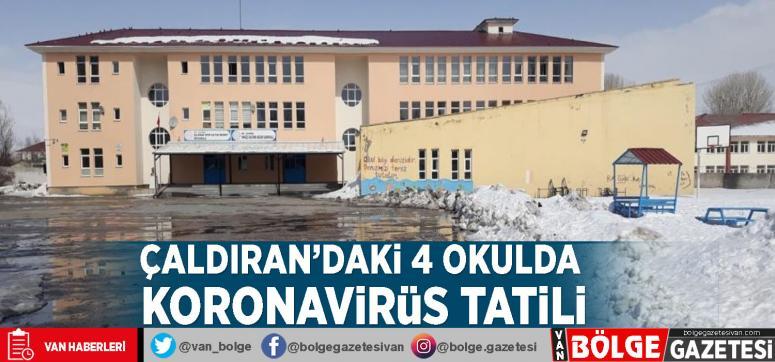Çaldıran'daki 4 okulda koronavirüs tatili