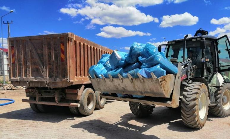 Çaldıran'da 5 ton malzeme geri dönüşüme kazandırıldı