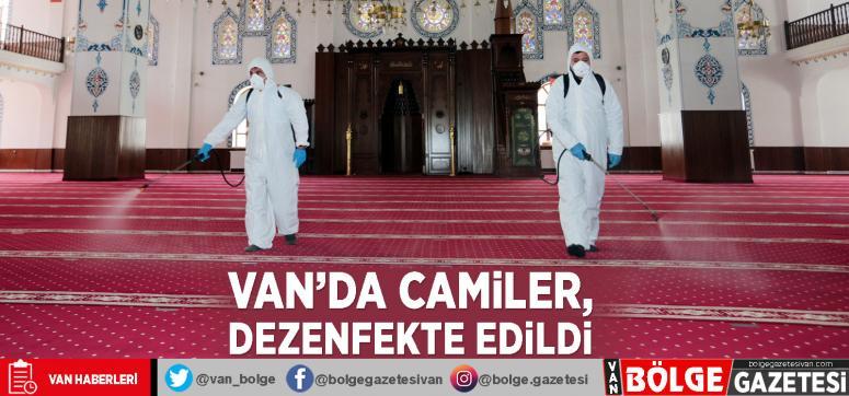 Van'da camiler, dezenfekte edildi