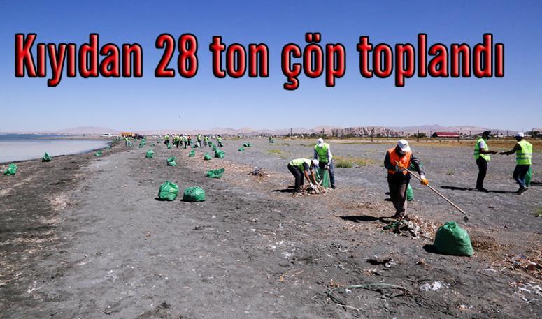Büyükşehir Belediyesi'nden sahilde temizlik çalışması…