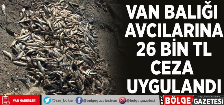 Van Balığı avcılarına 26 bin TL ceza uygulandı