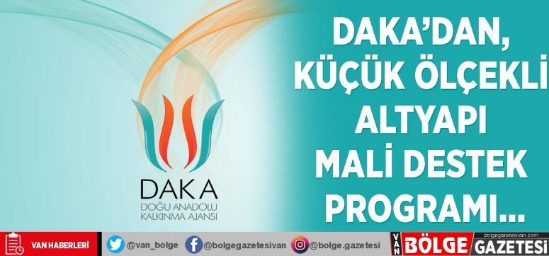 DAKA'dan, Küçük Ölçekli Altyapı Mali Destek Programı…