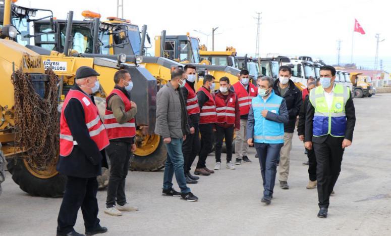 Edremit Belediyesi karla mücadele hazırlıklarını tamamladı