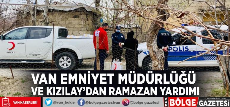 Van Emniyet Müdürlüğü ve Kızılay'dan Ramazan yardımı