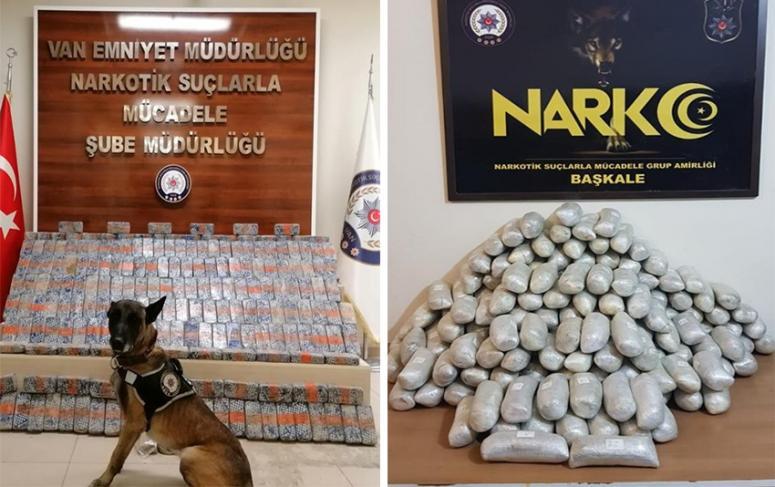 Van'da iki ayrı operasyonda 205 kilo eroin ele geçirildi