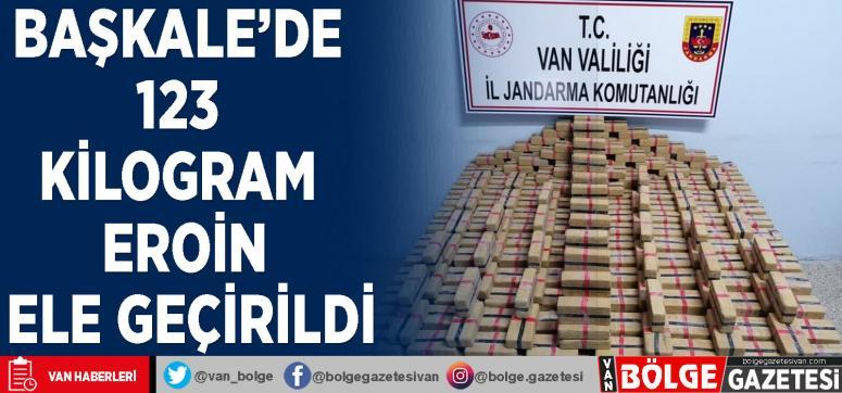 Van Başkale'de 123 kilogram eroin ele geçirildi