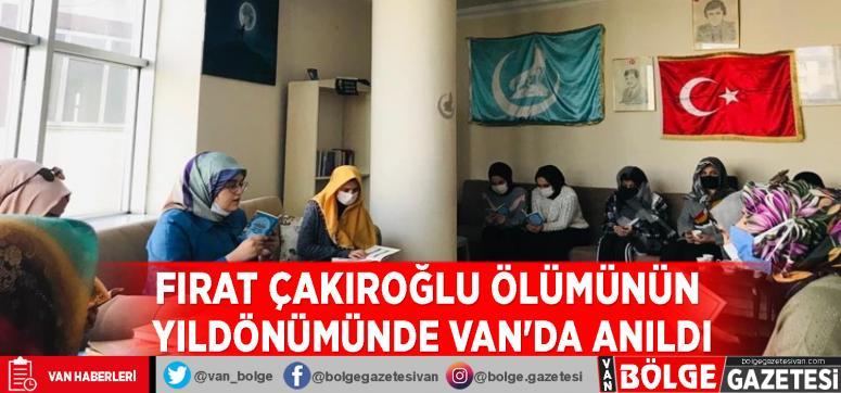 Fırat Çakıroğlu ölümünün yıldönümünde Van'da anıldı